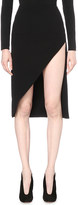 David Koma Asymmetric stretch-wool skirt