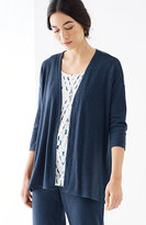 J. Jill Pure Jill Tencel®-Soft Knit Dipped-Hem Jacket
