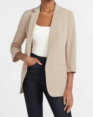Express Rolled Sleeve Boyfriend Blazer