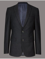 Autograph Wool Blend Textured Jacket