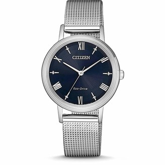 Citizen Womens Analogue Eco-Drive Watch with Stainless Steel Strap EM0571-83L