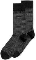 HUGO BOSS Men's Textured Dress Socks