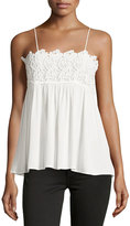 Romeo & Juliet Couture Lace Embroidered Tank, White