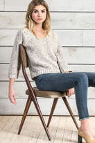 Lilla P Raglan Sleeve V-Neck Sweater