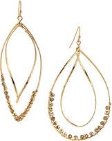 Panacea Twisted Teardrop Crystal Drop Earrings, Golden