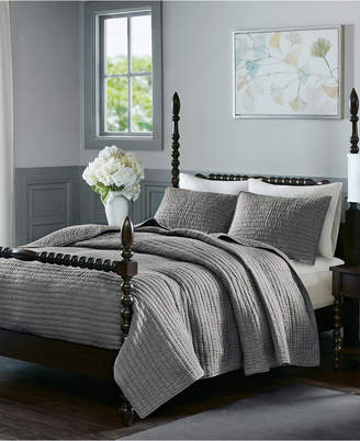 Madison Home USA Signature Serene King 3 Piece Cotton Quilt Coverlet Set Bedding