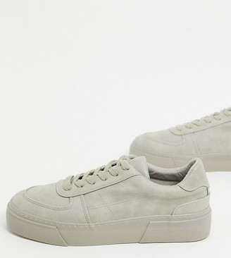 ASOS DESIGN Wide Fit trainers in grey with chunky sole