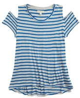Tucker + Tate Girl's Stripe Cold Shoulder Tee