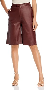 Remain Birger Christensen Manu Leather Bermuda Shorts