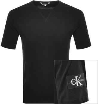 Calvin Klein Jeans Monogram Logo T Shirt Black