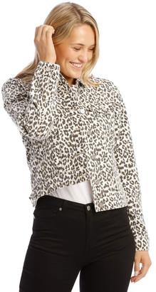 Grab Leopard Denim Jacket