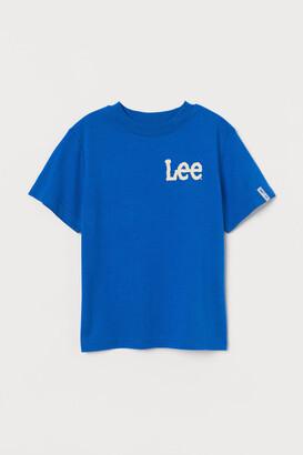 H&M Printed T-shirt - Blue