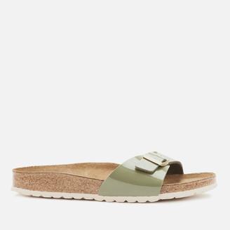 Birkenstock Women's Madrid Patent Single Strap Sandals - Khaki