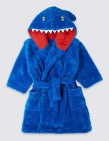 Marks and Spencer Shark Dressing Gown with Belt (1-8 Years)