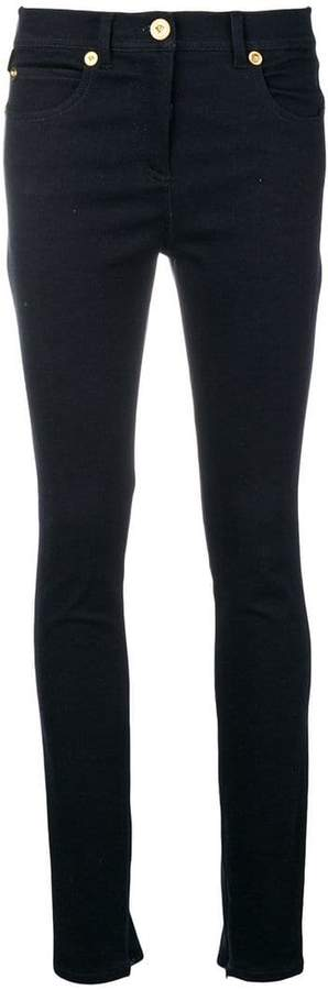 Versace low-rise skinny jeans
