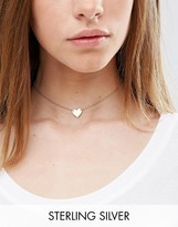 Asos Gold Plated Sterling Silver Heart Choker