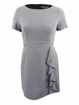 Jessica Howard Women's Cap Sleeve Inset Waist Dress with Cascade Ruffle Skirt