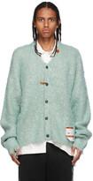 Thumbnail for your product : Miharayasuhiro Green Mohair Knit Cardigan