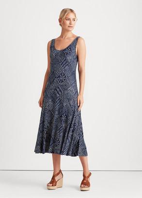 Ralph Lauren Print Linen Jersey Dress