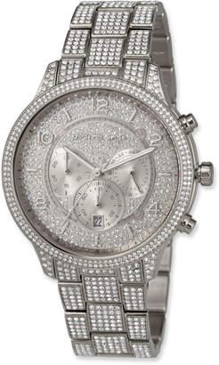 MICHAEL Michael Kors 43mm Runway Glitz Watch with Bracelet, Silver