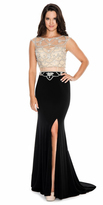 Decode 1.8 184060 Dazzling Illusion Cage Embellished Evening Dress