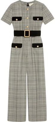 Gucci Prince of Wales wool jumpsuit