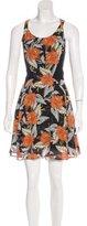 Proenza Schouler Silk Floral Print Dress