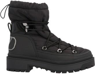 Valentino VLogo Print Winter Boots