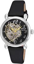 Invicta Black & Silvertone Satin Heart Automatic Strap Watch