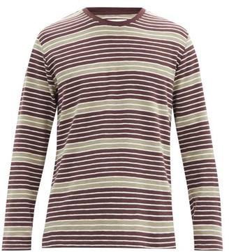 Folk Highlight Cotton-jersey Long-sleeved T-shirt - Purple Multi