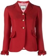Gucci frill trim blazer - women - Silk/Acetate/Viscose/Wool - 42