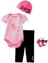 Juicy Couture 4-Piece Gift Box Set (Baby Girls 0-9M)