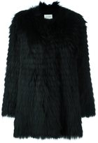 Yves Salomon raccoon fur coat