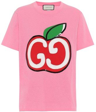 Gucci GG Apple logo cotton T-shirt