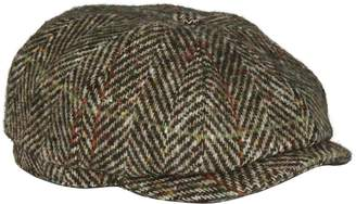 Stetson Herringbone Hatteras Flat Cap