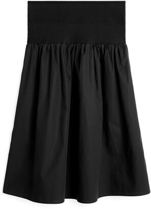 Arket Shirred Cotton Skirt