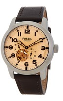 Fossil Men's Pilot 54 Automatic Leather Strap Watch