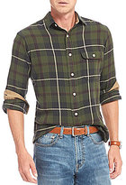 Daniel Cremieux Plaid Washed Flannel Long-Sleeve Woven Shirt