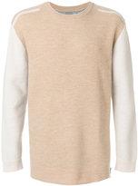 CK Calvin Klein two-tone crew neck sweater