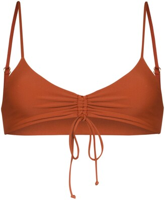 Juillet Emerson ruched bikini top