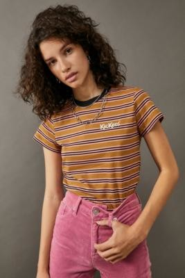 Kickers Stripe Ringer T-Shirt - Blue XS at Urban Outfitters