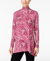 Style&Co. Style & Co Mock-Neck Printed Top, Only at Macy's