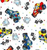 SheetWorld Fitted Pack N Play Sheet - Fun Race Cars - Made In USA - 29.5 inches x 42 inches (74.9 cm x 106.7 cm)