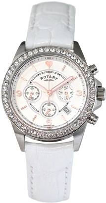 Rotary Womens Chronograph Quartz Watch with Leather Strap LS00147/41S