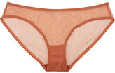 Eres Bambin Stretch-tulle Low-rise Briefs - Antique rose