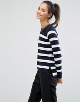 Only Mixed Rib Stripe Sweater