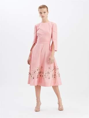Oscar de la Renta Embroidered Cocktail Dress