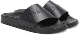Balmain Leather slides