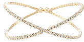 Cezanne Rhinestone Micro X Cuff Bracelet