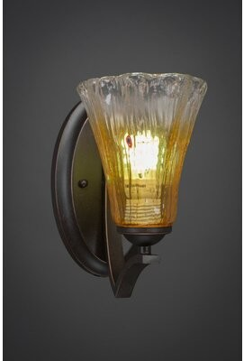 Couto 1-Light Armed Sconce Red Barrel Studio Shade Color: Wine